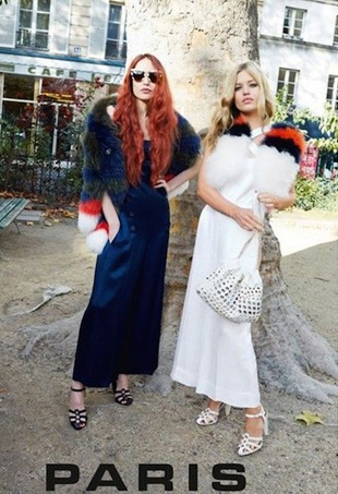 Lizzie and Georgia May Jagger; Image: Sonia Rykiel Spring 2015