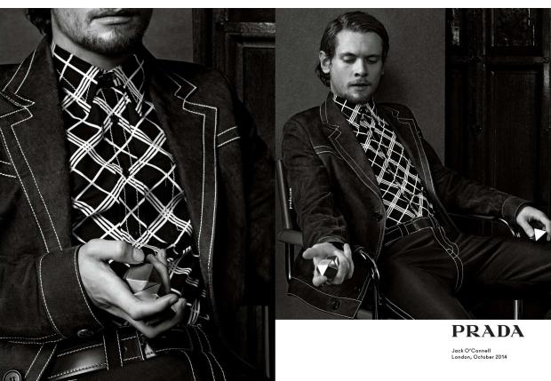 Ad Campaign Prada Menswear Spring 2015 Jack O'Connell