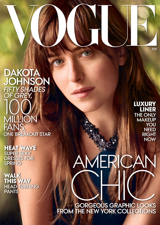 US Vogue February 2015 Dakota Johnson Mario Testino