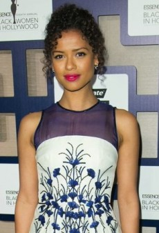 Gugu Mbatha-Raw Lunches in a Ladylike Floral Carolina Herrera Dress