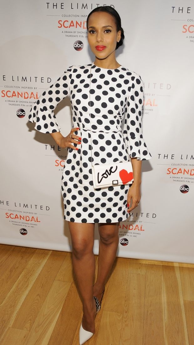 Kerry Washington wears a Dolce & Gabbana dress to The Limited's