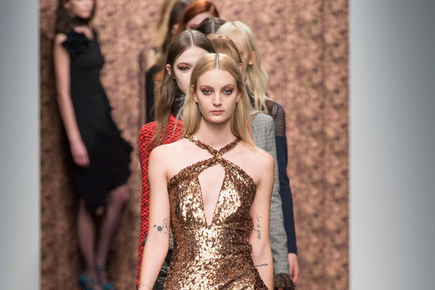 Models walk the Sophie Theallet runway Fall 2015; image: Imaxtree