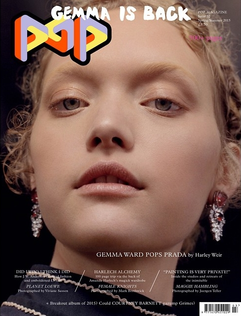 POP Magazine Spring 2015 Gemma Ward