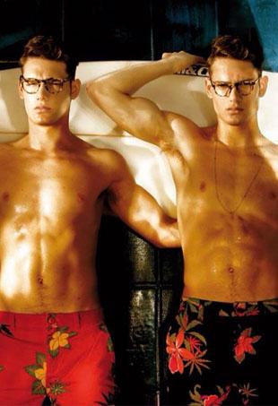 Hot Male Model Twins