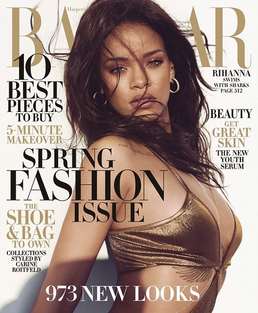 US Harper's Bazaar March 2015 Rihanna