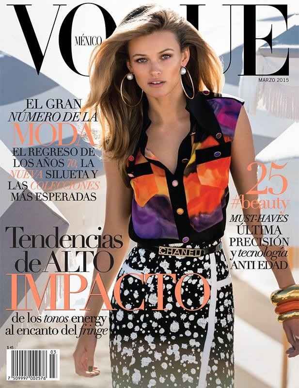 Vogue Mexico March 2015 Edita Vilkeviciute Gilles Bensimon