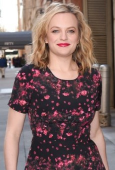 Elisabeth Moss Steps Out in a Springy BB Dakota Floral Dress