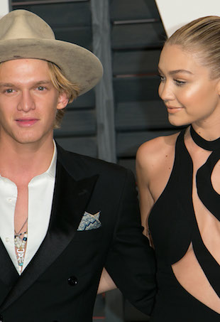 Cody Simpson and Gigi Hadid at 2015 Vanity Fair Oscars After-Party