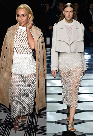 Kim Kardashian & Balenciaga runway model