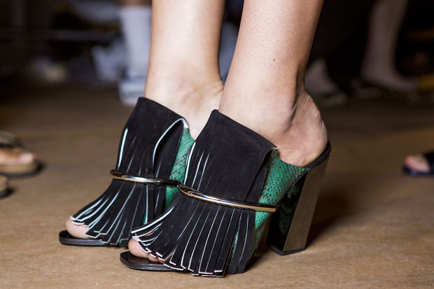 Mules from Proenza Schouler Spring 2015; Image: Imaxtree