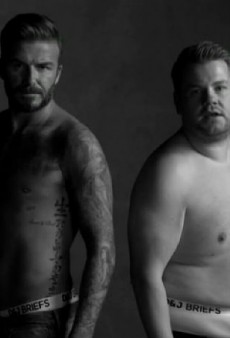 David Beckham Strips Down for Underwear Parody with James Corden