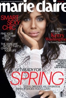 Kerry Washington Lands the Cover of Marie Claire's April Issue (Forum Buzz)