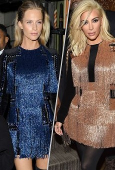 Style Showdown: Poppy Delevingne and Kim Kardashian Flash a Lot of Fringe in Balmain and More Matching Celebs