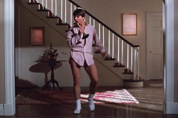 Tom Cruise dancing in Risky Business