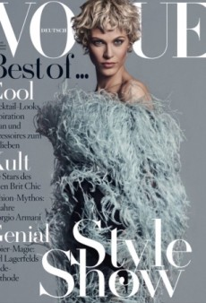 Does Aymeline Valade Pull Off Vogue Germany's April Cover? (Forum Buzz)