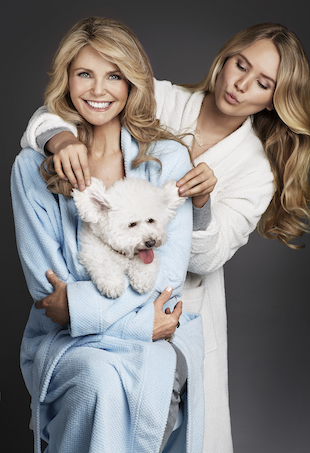 Christie Brinkley and daughter Sailor pose for Peter Alexander