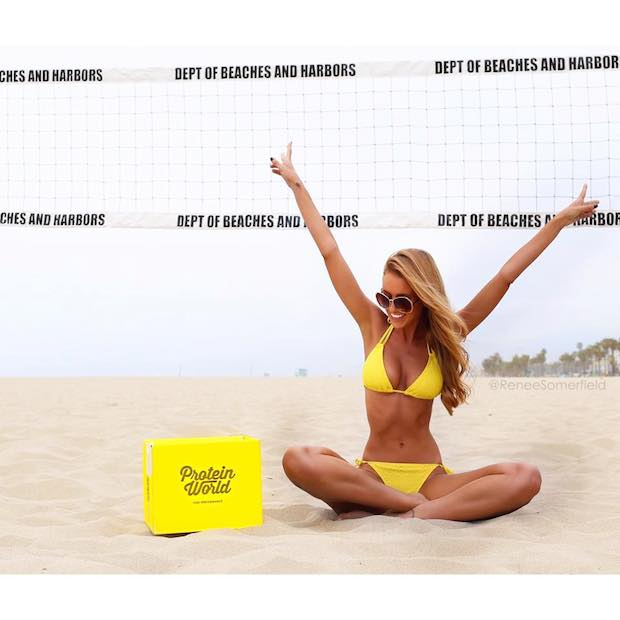 Renee Somerfield models for Protein World