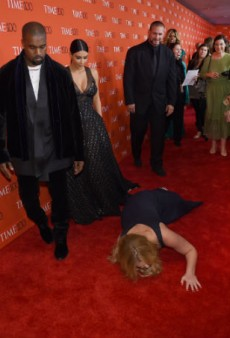 Amy Schumer Pretends to Collapse in Front of Kimye at TIME 100 Gala