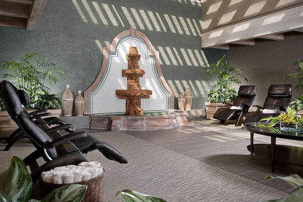 THE MEDITATION ATRIUM AT PHOENICIAN SPA. IMAGE: COURTESY OF MARK BOISCLAIR PHOTOGRAPHY.