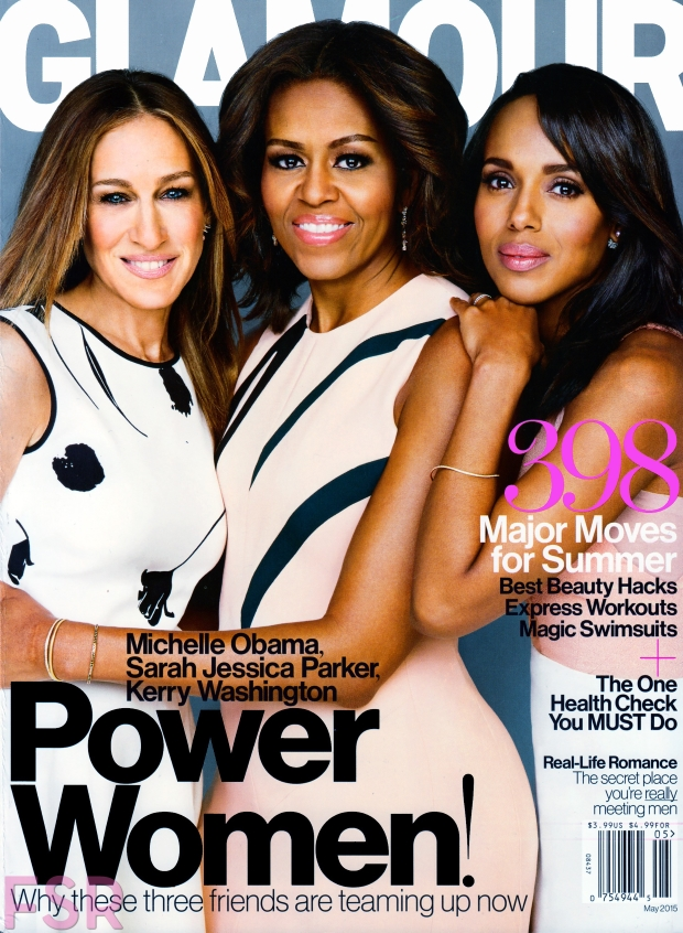 US Glamour May 2015 SJP, Michelle Obama, Kerry Washington Patrick Demarchelier