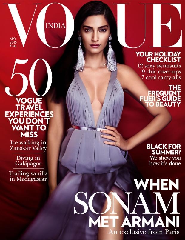 Vogue India April 2015 Sonam Kapoor Kristian Schuller