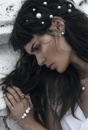 Model Nicole Trunfio, stylist, photographer and fashion blogger Margaret Zhang, and jewellery brand Amber Sceats have collaborated for the label's latest campaign shoot called Against the Haze.