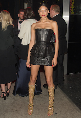 Shanina Shaik at the Met Gala 2015 after-party