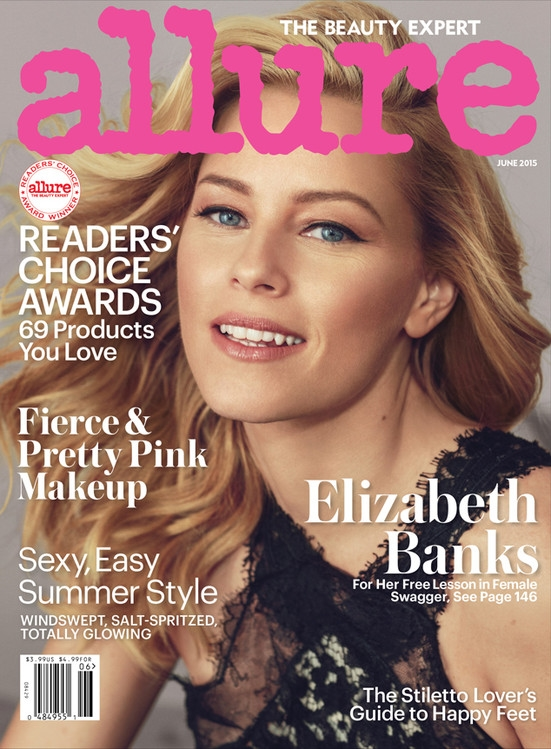 Allure June 2015 Elizaebeth Banks by Norman Jean Roy