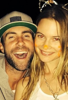 For Her Birthday, Enjoy These Photos of Behati Prinsloo and Adam Levine Being Adorable