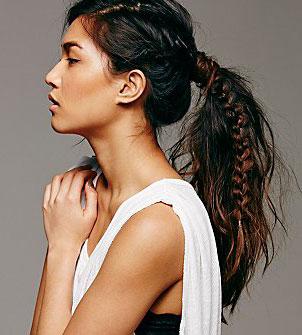 Astounding 10 Ways To Make A Fishtail Braid Thefashionspot Short Hairstyles For Black Women Fulllsitofus