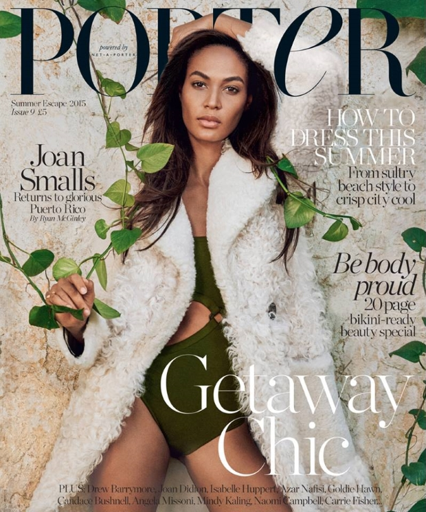 Porter #9 Summer Escape 2015 Joan Smalls by Ryan McGinley