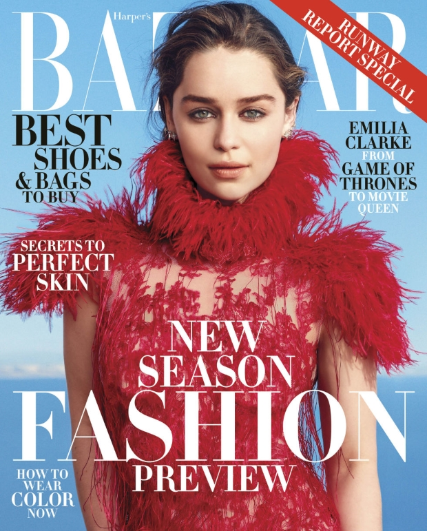 US Harper's Bazaar June July 2015 Emilia Clarke by Norman Jean Roy