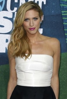 Brittany Snow Keeps Things Pretty Black and White in Monique Lhuillier