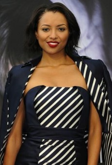 Kat Graham Shows Her Stripes in Gustavo Cadile