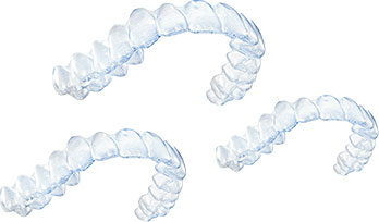 The clear aligners. Image: Courtesy of Invisalign