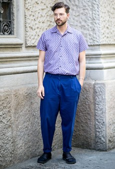 50 Gorgeous Street Style Snaps from Milan Men's Fashion Week Spring 2016