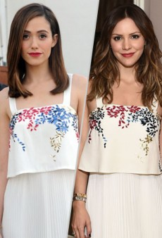 Style Showdown: Emmy Rossum and Katharine McPhee Fall for Elle Sasson's Summery Dress and More Matching Celebs