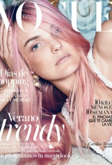 Caroline Trentini Dyes Her Hair Pink for Vogue Spain (Forum Buzz)