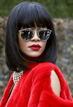Rihanna wearing Dior So Real sunglasses