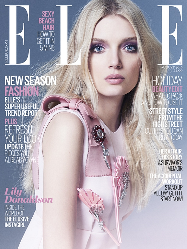 UK ELLE August 2015 Lily Donaldson by Kai Z Feng