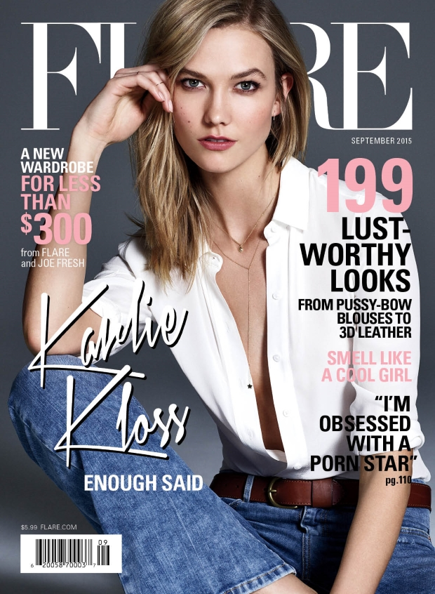 Flare September 2015 Karlie Kloss by Nino Munoz