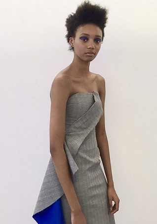 Model poses in Roksanda Ilincic anniversary capsule collection