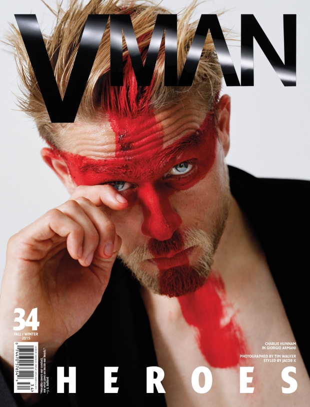 VMan #34 Fall 2015 Charlie Hunnam by Tim Walker