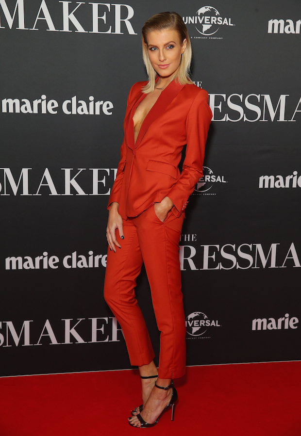 Erin Holland arrives ahead of the red carpet screening of 'The Dressmaker'