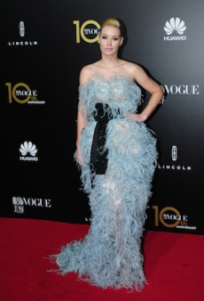 Iggy Azalea Goes Wild with Feathers for Vogue China's Gala Dinner