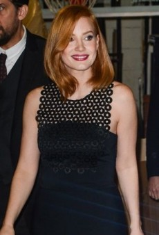 Jessica Chastain Kicks Her LBD Up a Notch with Green Pumps