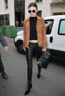 Get the Look: Miranda Kerr's Edgy Western Get-Up at Paris Fashion Week