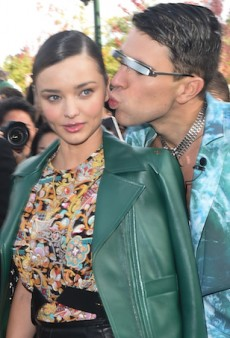 WATCH: Prankster Gets in Miranda Kerr's Grill at Paris Fashion Week