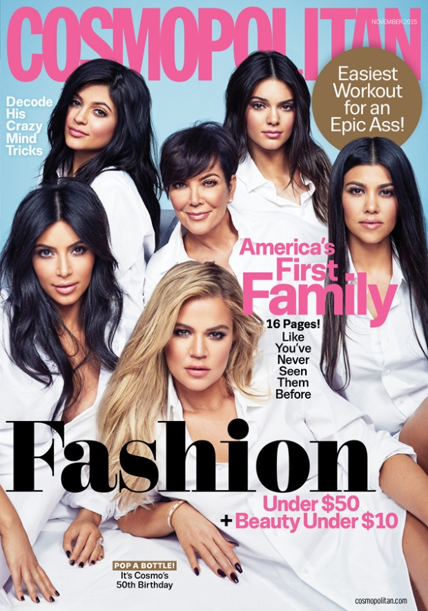 Cosmopolitan November 2015 Kardashian/Jenners by Francesco Carrozzini