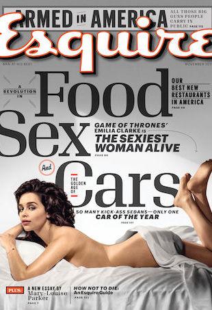 Emilia Clarke November Esquire Cover